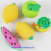 Buy cheap Novelty Fruit Theme 3D TPR Eraser from wholesalers