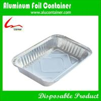 Buy cheap disposable rectangular aluminum foil containers for food storing from wholesalers