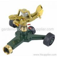 Buy cheap Garden Water Equipment metal garden water sprinkler with zinc wheel base from wholesalers