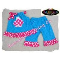 Buy cheap Yummy Birthday Girl Cupcake Aqua and Pink Outfit Set from wholesalers