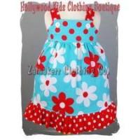 Buy cheap Newborn Baby Toddler Aqua Floral Red Girl Casual Dress from wholesalers
