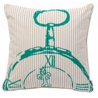 Buy cheap Bedroom BECKY BROOME TURQUOISE & BEIGE POCKET WATCH FEATHER & COTTON CUSHION from wholesalers
