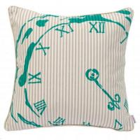 Buy cheap Living BECKY BROOME TURQUOISE & BEIGE POCKET WATCH FEATHER & COTTON CUSHION from wholesalers