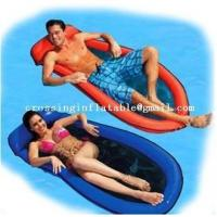 Buy cheap floating mattress intex inflatable water mattress with net bottom from wholesalers