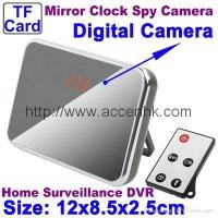 Buy cheap Spy Hidden Camera Digital Mirror Clock Spy Camera Motion Detection Surveillance DVR Remote Control from wholesalers