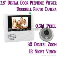 Buy cheap Video Door Phone 2.8 LCD Door Peephole Viewer 3X Zoom Doorbell Photo Camera W/ IR Night Vision from wholesalers