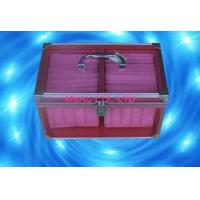 Buy cheap Purple Acrylic Aluminum Storage Cases , Transparent 100 CD Case with Lock from wholesalers