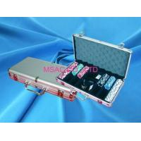 Buy cheap Silver Padded Aluminum Poker Chip Carrying Case With Slot For Carry Chipper from wholesalers