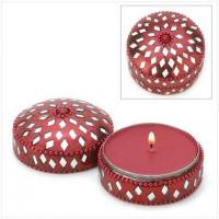 Buy cheap CANDLES AND SCENTS Jeweled Round Keepsake Candle[14383] from wholesalers