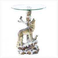 Buy cheap BEAUTIFUL BEASTS Wolf Table With Glass Tabletop[37918] from wholesalers