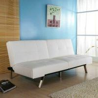 Buy cheap Jacksonville Leatherette Futon Sleeper Sofa in White from wholesalers