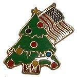 Buy cheap Seasonal pins Christmas Tree and USA Flag product