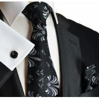Buy cheap Black and White Silk Tie by Paul Malone (1010CH) from wholesalers