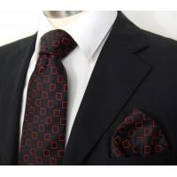 Buy cheap Black and Red Paul Malone Silk Necktie with Pocket Square (960H) from wholesalers
