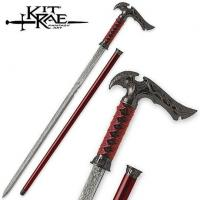 Buy cheap Kit Rae Sword Cane - Axios - Crimson Damascus[TS-KTRSC2] from wholesalers