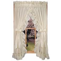 Buy cheap Stephanie Solid Color Ruffled Priscilla Window Curtains with Bow Tie Backs from wholesalers