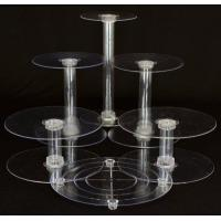 Buy cheap 6 Tier Clear Wedding Cascade Cupcake Cake Stand from wholesalers
