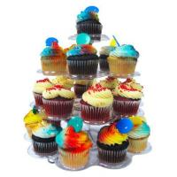 Buy cheap Imperial 4 Tier Plastic Cupcake / Dessert Stand - Up to 24 Cupcake Holder Stand from wholesalers