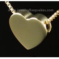 Buy cheap Cremains Pendant 2 Person Gold Vermeil Sliding Heart (Husband/Wife) (Parents) from wholesalers