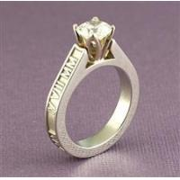 Buy cheap Roman Numeral Ring with Cathedral-Set Pearl or Diamond from wholesalers