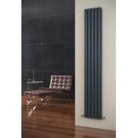 Buy cheap Eclipse Anthracite Vertical 5 Tube Double Panel Radiator 1800mm x 290mm from wholesalers