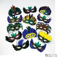 Buy cheap Mardi Gras Feather Mask Assortment (12 pcs) from wholesalers