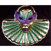 Buy cheap Multiple quantities/pricing available Mardi Gras Masked Lady with Large Collar from wholesalers