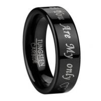 Buy cheap You Are My Only Wedding Ring for Men in Black Tungsten | 6mm from wholesalers