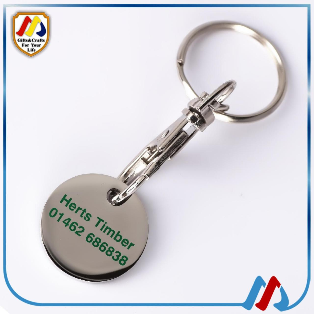 Buy cheap Supermarket trolley coin keyring from wholesalers