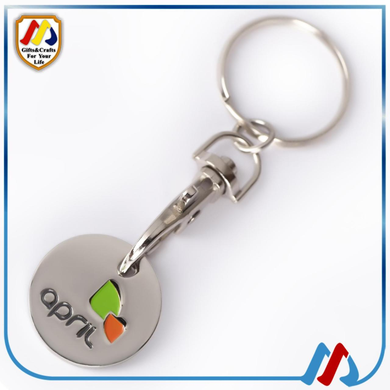 Buy cheap shopping trolley coin keyring from wholesalers