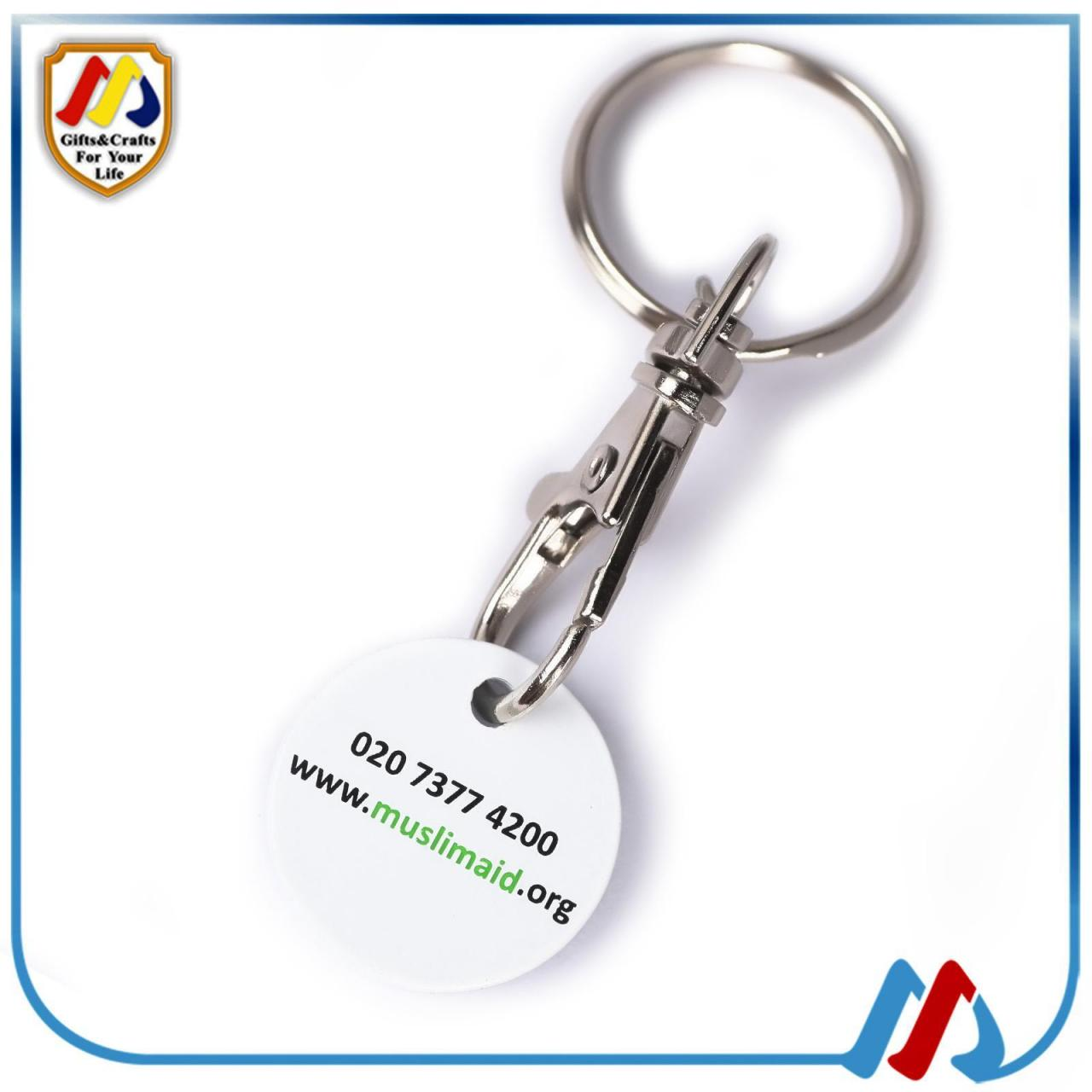 China Trolley coin keyring on sale