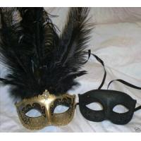 Buy cheap MASKS Gold Black His Hers Combo Masquerade Mardi Gras Masks from wholesalers