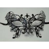 Buy cheap MASKS Butterfly Black Masquerade Mardi Gras Mask Venetian High Quality Metal FilIgree from wholesalers
