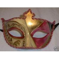 Buy cheap MASKS PINK GOLD EMBOSSED VENETIAN MARDI GRAS PROM MASK from wholesalers