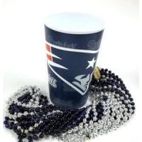 Buy cheap NEW ENGLAND PATRIOTs 22 oz Cup 12 Mardi Gras Beads Blue Silver Party Supplies from wholesalers
