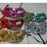 Buy cheap MASKS 1 Metallic Flower Mardi Gras Mask Colorful Choice Pink Red Gold Silver Green from wholesalers