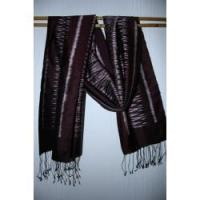 Buy cheap Brown tied and dye silk scarf from wholesalers