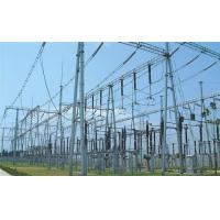 Buy cheap Wind turbine tower 110KV substation steel structure from wholesalers