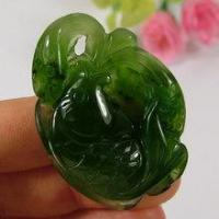 Buy cheap Green Hetian Nephrite Jade Carved Pendant Fish Lotus Leaf from wholesalers