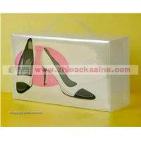 Buy cheap Clear shoes box Plastic Translucent Shoe Box with printing from wholesalers