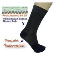 Buy cheap KoolFree Silver Anion & Bamboo Charcoal Anti-bacteria & Anti-odor Midcalves Socks 24 pairs from wholesalers