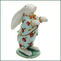 Buy cheap Bejeweled BUNNY RABBIT in PAJAMAS Animal Figurine Trinket Box from wholesalers
