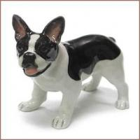 Buy cheap Northern Rose Porcelain Black and White FRENCH BULLDOG Miniature DOG FIGURINE from wholesalers