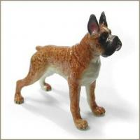 Buy cheap Northern Rose STANDING BOXER DOG Porcelain Miniature Animal Figurine from wholesalers