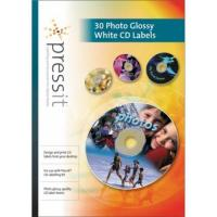 Buy cheap PressIt A4 Photo Glossy White CD Labels (30) from wholesalers
