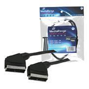 Buy cheap MediaRange Scart cable 3M black from wholesalers