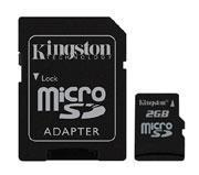 Buy cheap Kingston Micro Secure Digital 2GB memory card + SD adapter from wholesalers