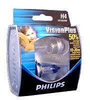 H4(472) visionplus.(pair) car bulbs.