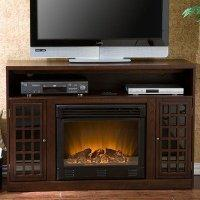 Buy cheap Bismark 48 TV Stand with Electric Fireplace Finish: Espresso from Southern Enterprises from wholesalers