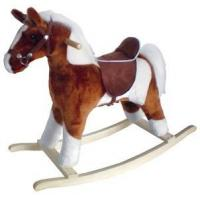 Buy cheap Plush Pinto Rocking Horse with Brown Saddle & Wood Base from wholesalers
